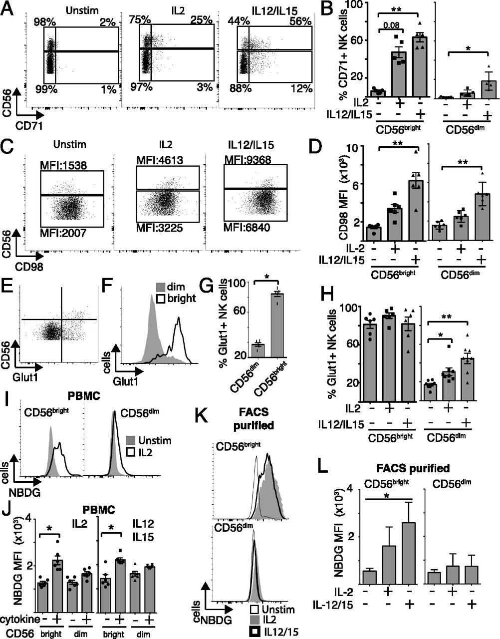 Metabolic Reprogramming Supports IFN-γ Production by CD56bright NK