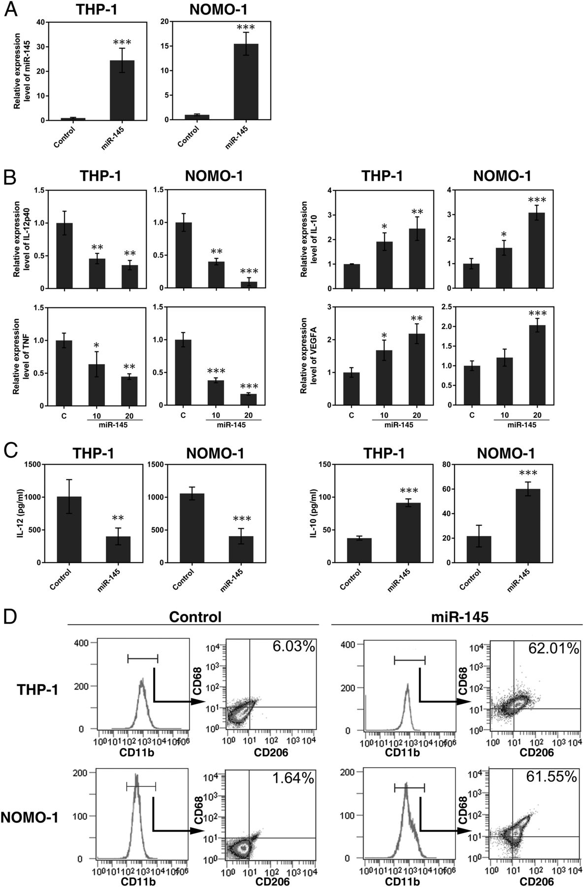 Regulated Polarization of Tumor-Associated Macrophages by miR-145