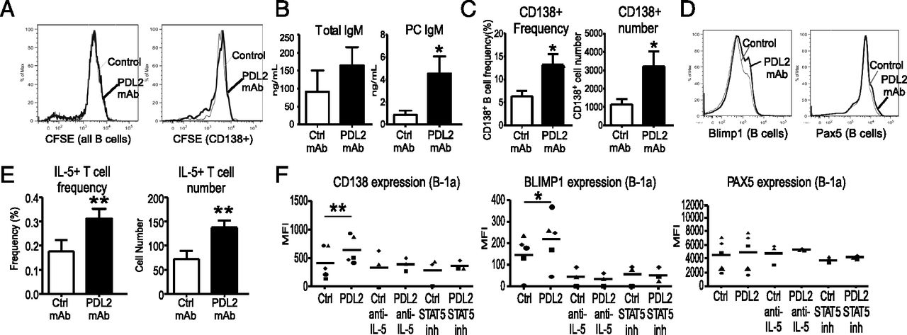 Pd L2 Regulates B 1 Cell Antibody Production Against