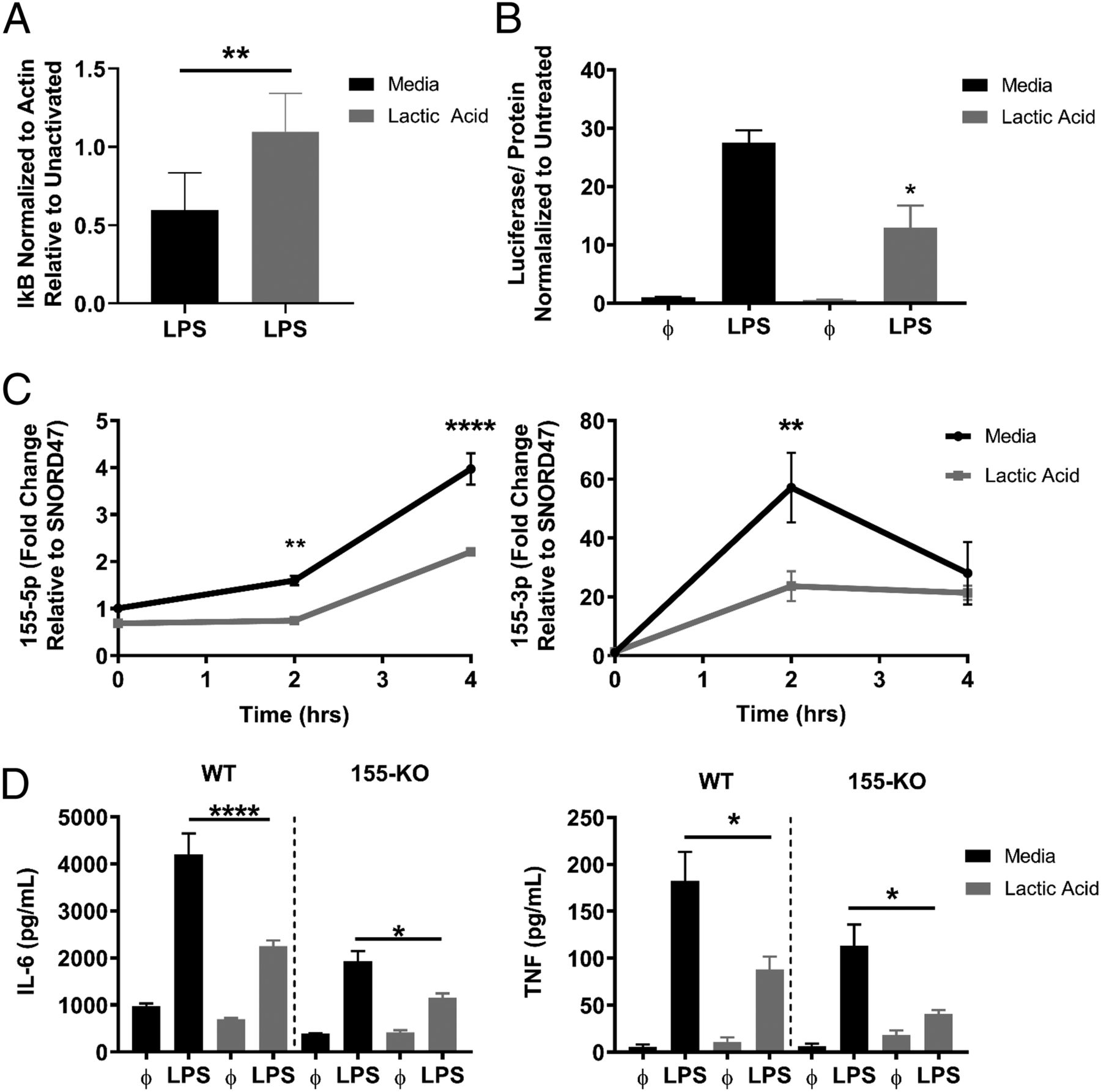 Lactic Acid Inhibits Lipopolysaccharide-Induced Mast Cell Function